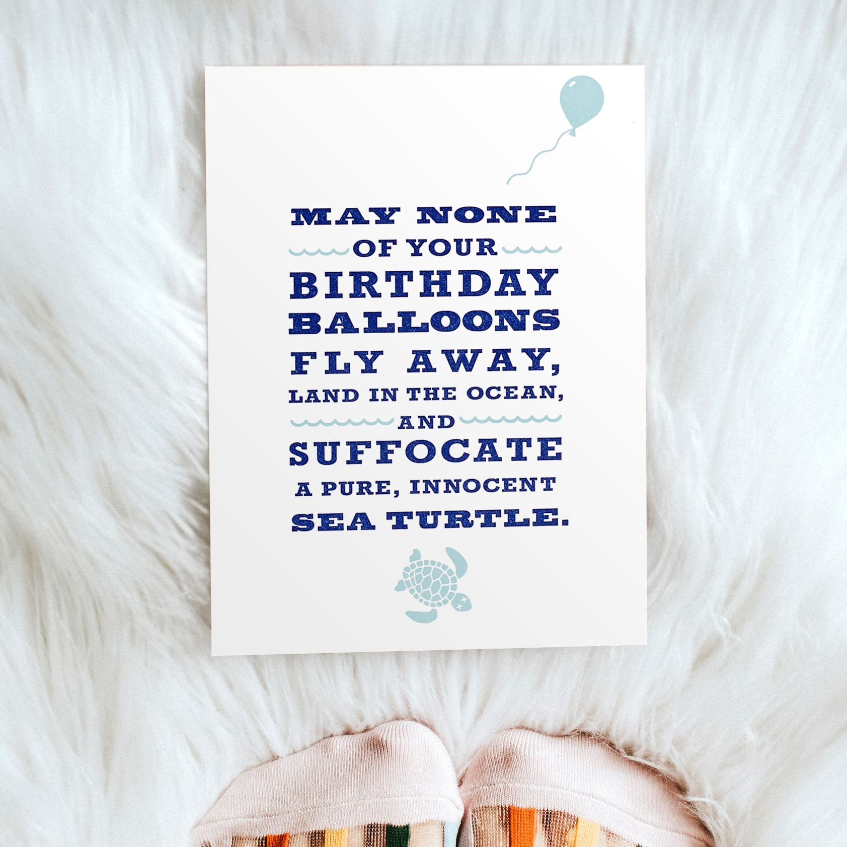 Sea Turtles and Balloons Birthday Greeting Card