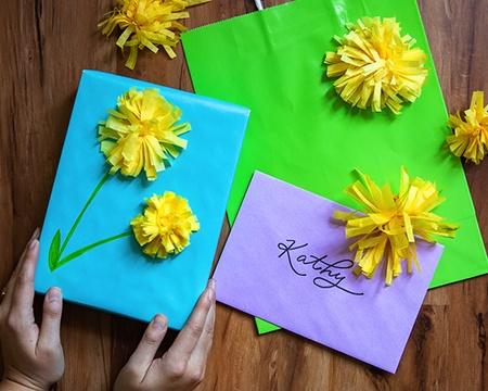 Spring Gift Wrap Idea