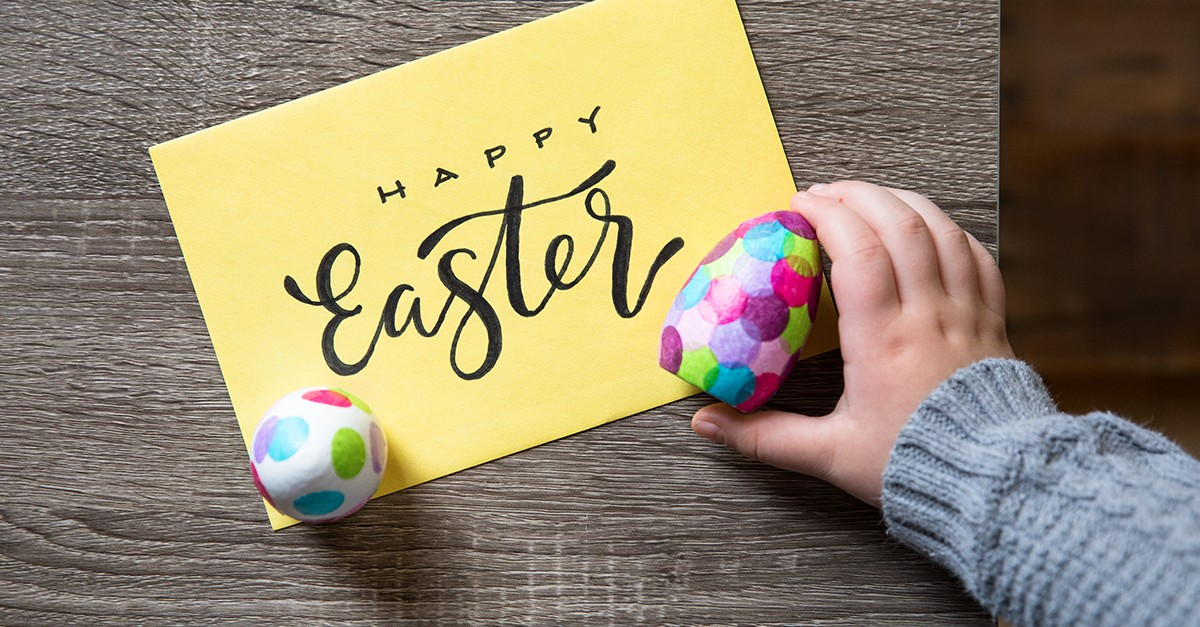 Happy Easter Card and Eggs