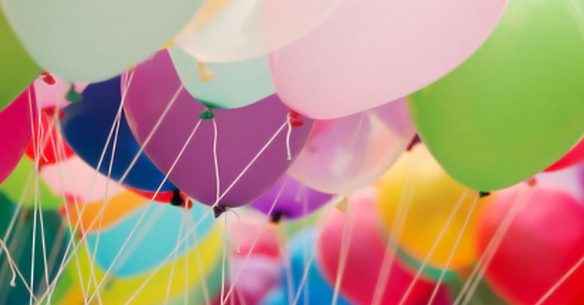 Various colored balloons