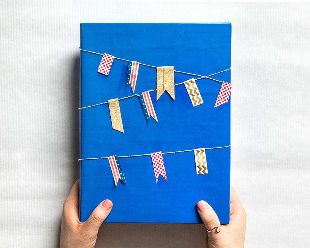 Gift Wrap Idea: Nautical Banner