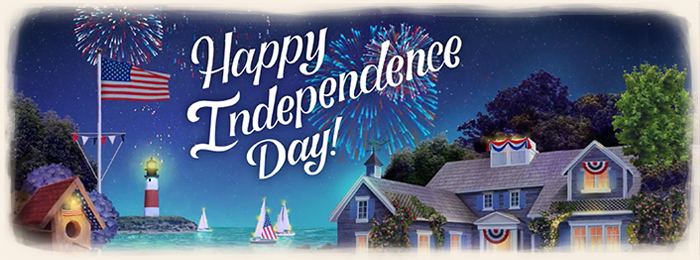 Blue Mountain 4th Of July Banner