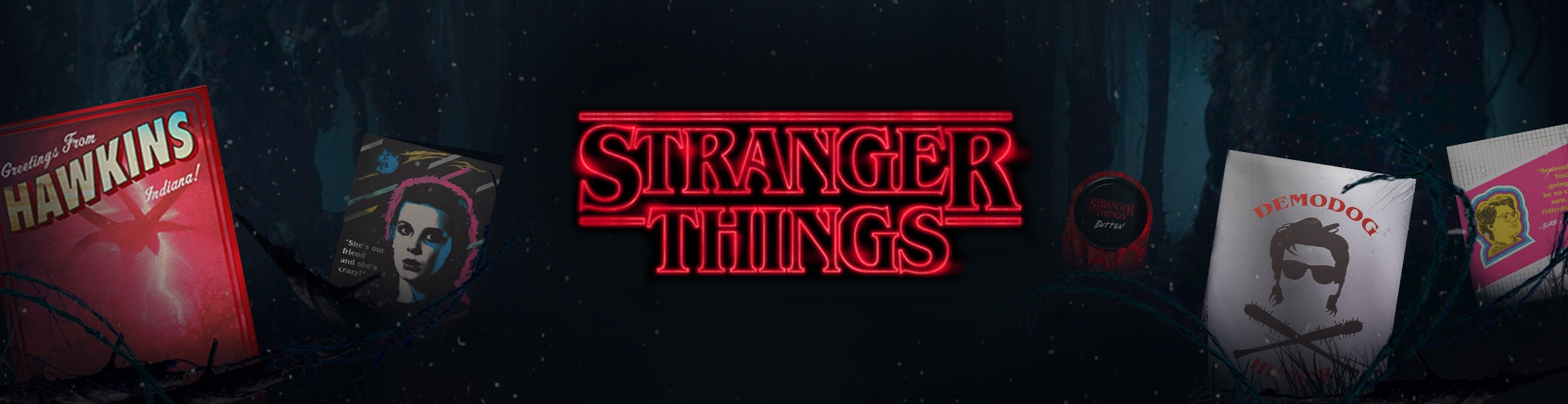 Stranger Things Product Banner