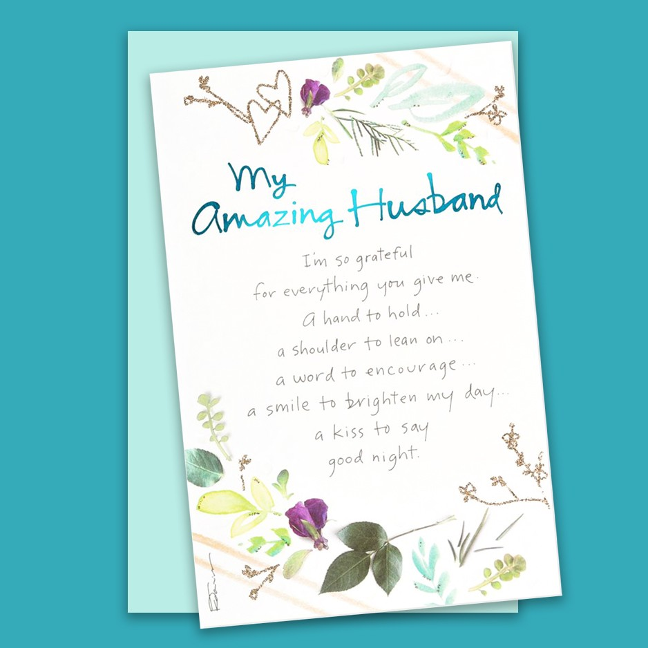 My Amazing Husband Kathy Davis Card