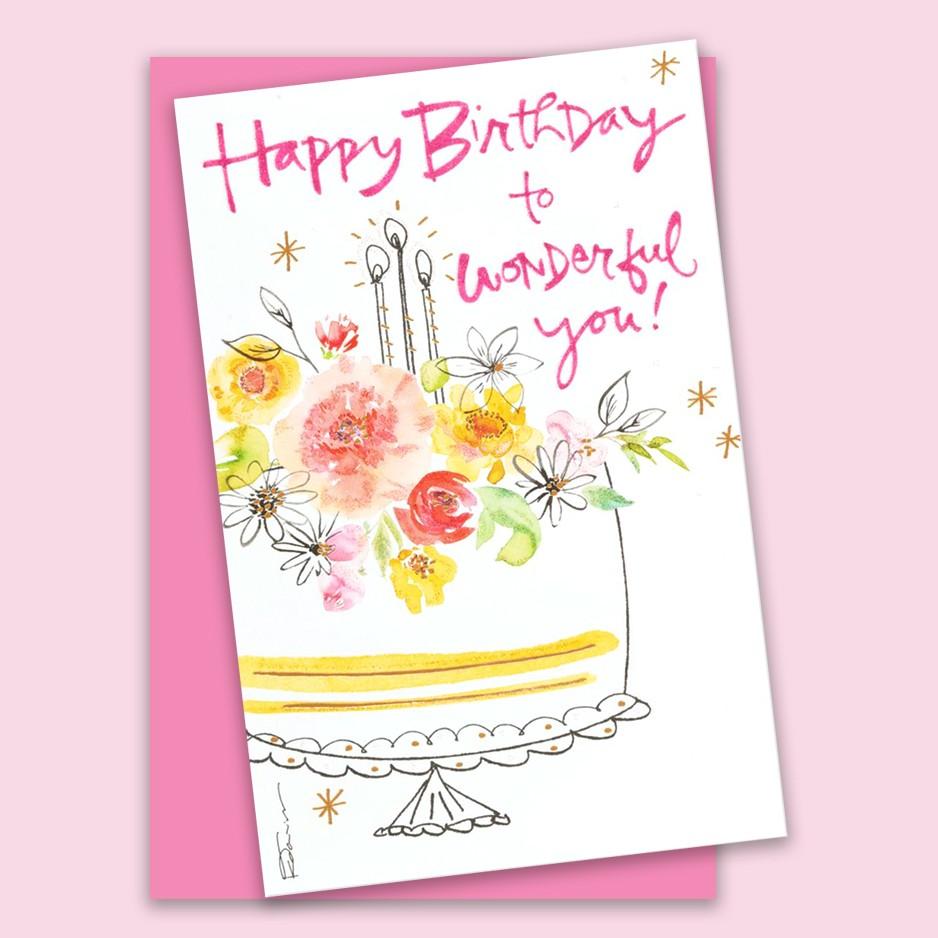 Happy Birthday to Wonderful You Kathy Davis Card