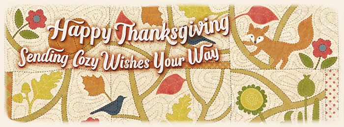 Quilt Happy Thanksgiving Banner