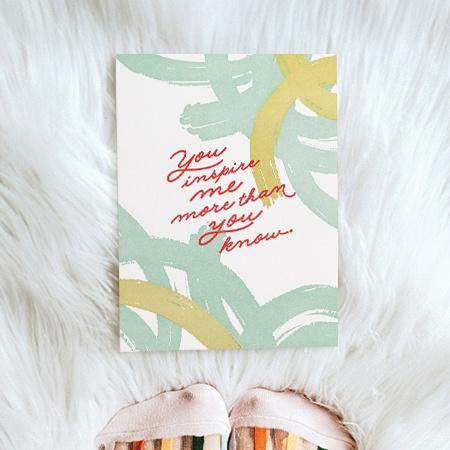 Inspire Me Paper Rebel Card