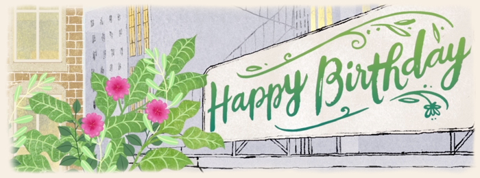 Plants in the City Birthday Banner