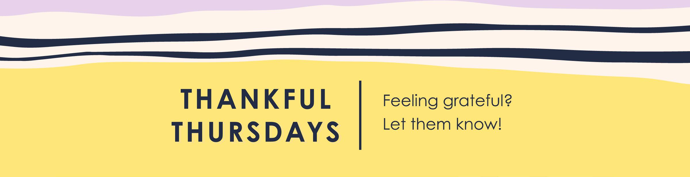 Thankful Thursdays Banner