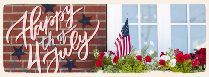4th of July Land of the Free Homepage Banner