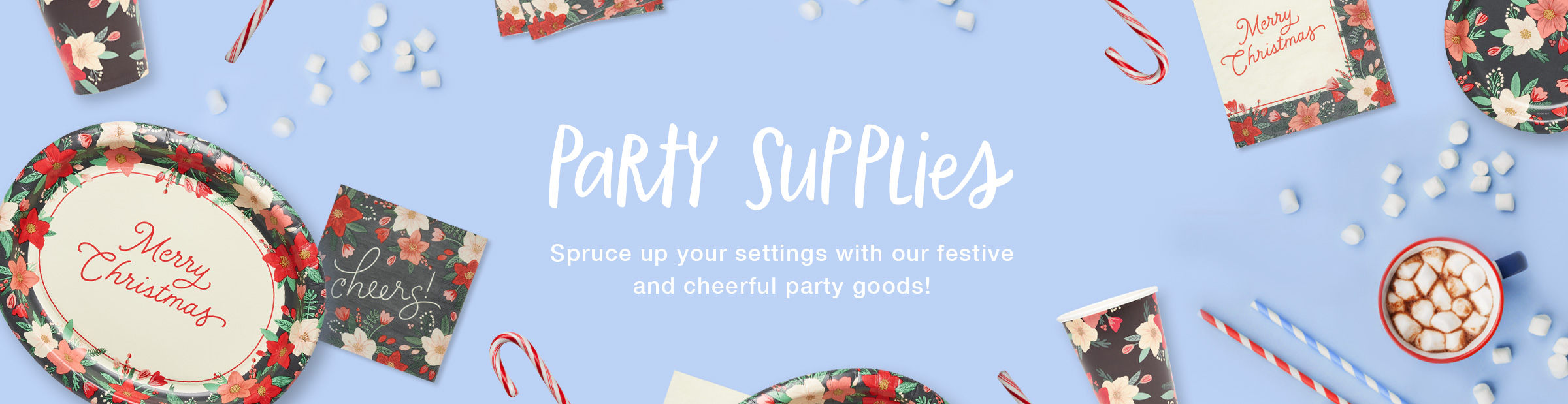 Party Supplies Christmas Banner