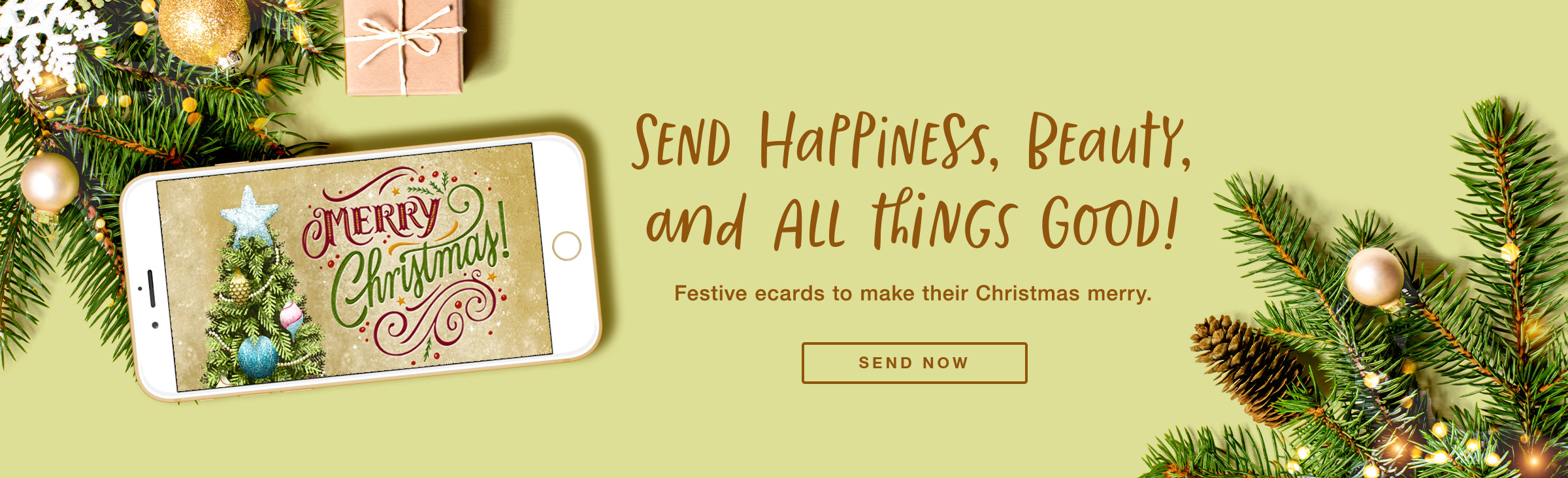 Happiest, Beauty and All Good Things Christmas Ecard