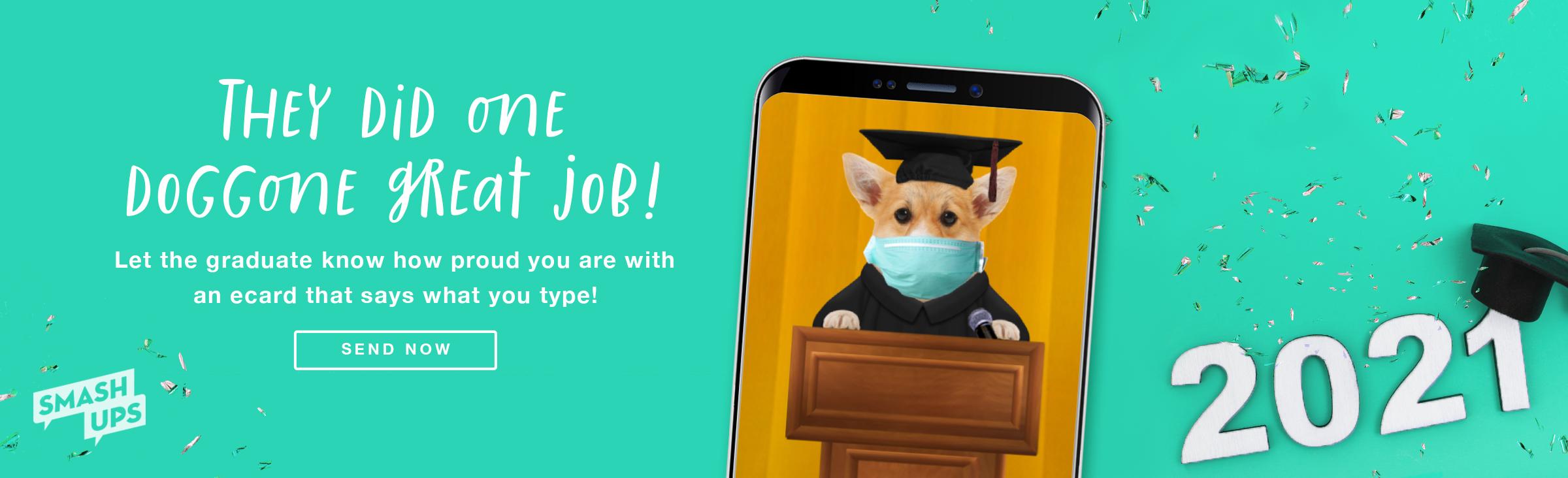Graduation Talking Dog Ecard
