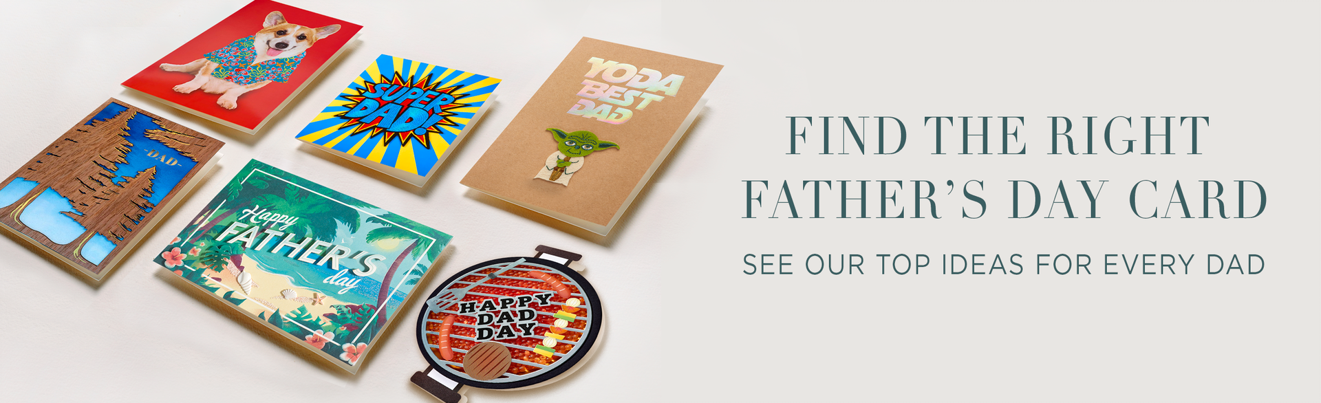 grid of father's day cards