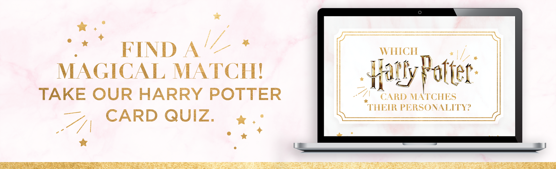 Laptop with Harry Potter Card Quiz on it
