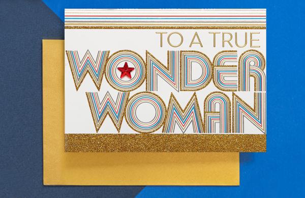 Wonder woman Greeting card