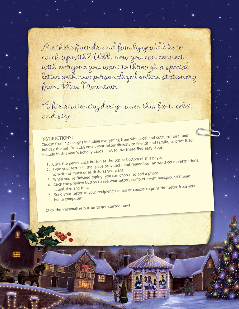 Christmas Joys Stationery\