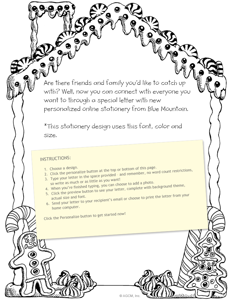 coloring for santa stationery christmas stationery blue