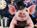 Auld Lang Swine Talking Card New Year's Day eCards