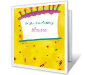 16th Birthday greeting card
