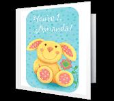 1st Birthday Girl greeting card