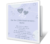 25 Years Together greeting card