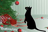 Cat and Bauble