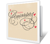 High Quality Anniversary Joy Greeting Card  Anniversary Cards Printable