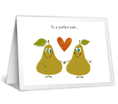 A Perfect Pair Greeting Card  Print Your Own Anniversary Card