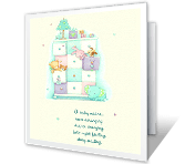 A Baby means Love greeting card