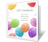 A Birthday Celebration invitation