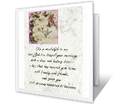 A Blessed Marriage greeting card