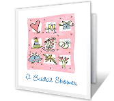 A Bridal Shower invitation