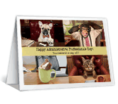 A Day Off greeting card