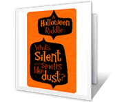 A Halloween Riddle greeting card