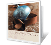 A Holiday Thank You greeting card