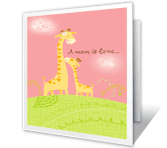 A Mom is Love greeting card