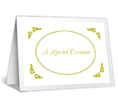 A Special Occasion invitation