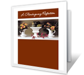 A Thanksgiving Reflection greeting card