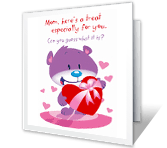 A Valentine Treat greeting card