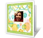 Balloon add-a-photo greeting card