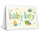 Best Wishes on Your Baby Boy greeting card