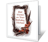 Best Wishes on Your Birthday greeting card