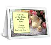 Birthday Blessings for Mom greeting card