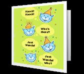Birthday Knock-Knock greeting card