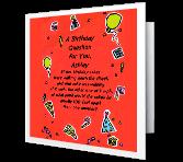 Birthday Question greeting card