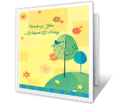 Birthday Reflection greeting card