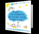 Caring Kid greeting card