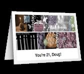 Celebrating 21 greeting card