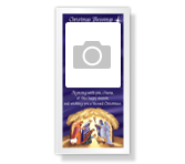 Christmas Blessings 4 x 8 Photo Card greeting card